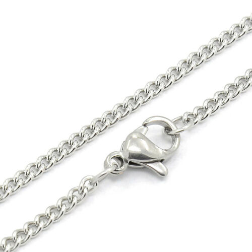 "6 Strds 304 Stainless Steel Curb Chain Neckalces Base w// Lobster Clasp 19.7/""x2mm"