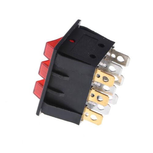 KCD3 34 40 Großer Wippschalter Mit Rotlicht Dreiwegschalter 9 Pin 2 PositionCP
