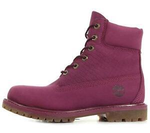 Timberland-AF-Icone-6-in-environ-15-24-cm-Premium-pour-Femme-Bottes-Lacets-Hiver-Violet-A13YK-filles
