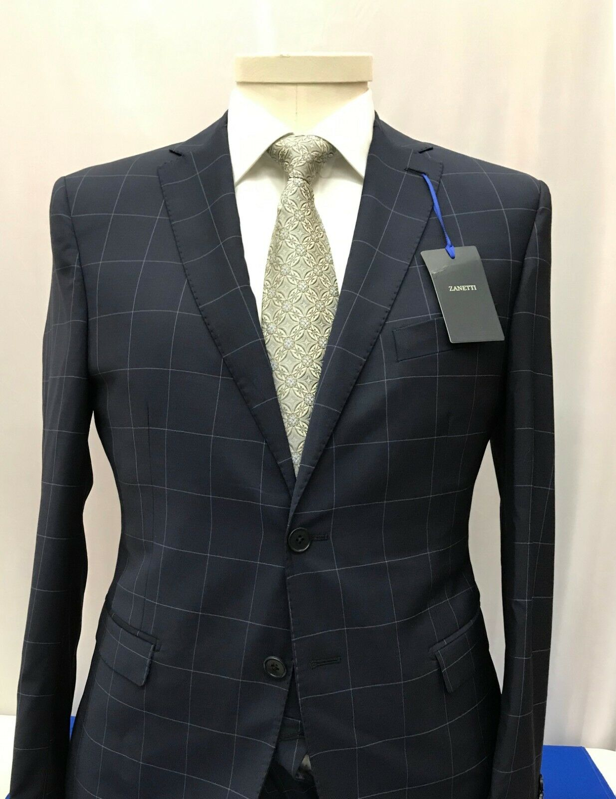 Zanetti 100% Wool Suits Made in  Luca/pzes ART:182/015/116