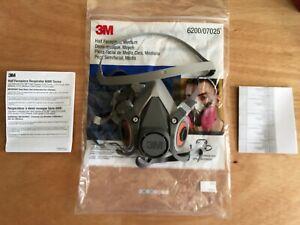 3M-6200-07025-Medium-Half-Face-Respirator-NEW-IN-BAG