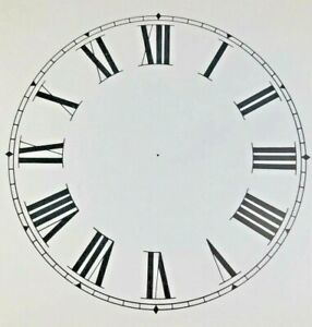 4.5 Inch Paper Clock Replacement Dial, Roman Numeral (Lot 161)