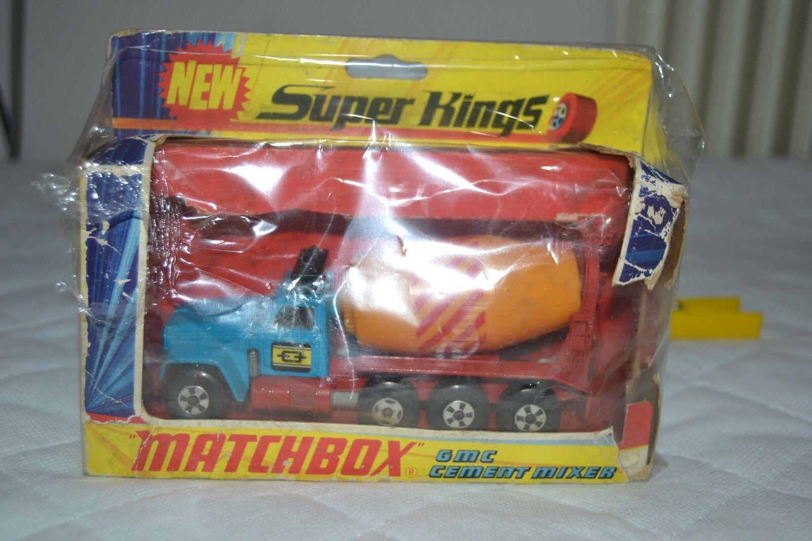 MATCHBOX Lesney K-6 Super Kings GMC Betoniera OVP 1970