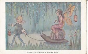 Hilda-Miller-Fairy-PC-Fairy-rides-on-a-snail-pulled-by-pixie