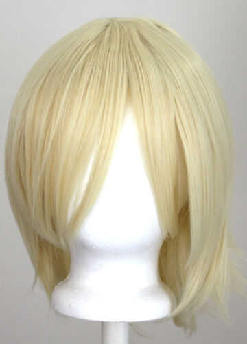 12/'/' Short Flare Flaxen Blonde Cosplay Wig Synthetic NEW