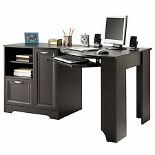 NEW Corner Desk Computer Table (L-shaped Home Office laptop) Wood Cherry Free SH