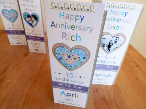 Anniversary card special anniversary card husband wife partner personalised card