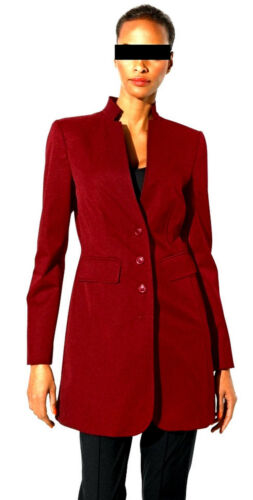 Luxury Class Jacket International Fx Viscose Blazer Mix Long Nuovo Luxury Red 38 Y7Yqr
