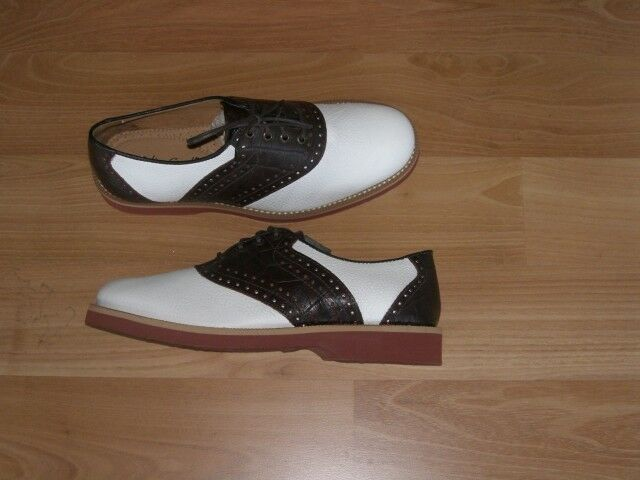 Brown and white white white Saddle shoes Colter Creek by Trask US womens sizes NOS b9a7a8