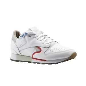 Reebok-Classic-Leather-Urge-WHITE-COOL-GREY-RED-BLUE-Men-039-s-Shoes-CN0170