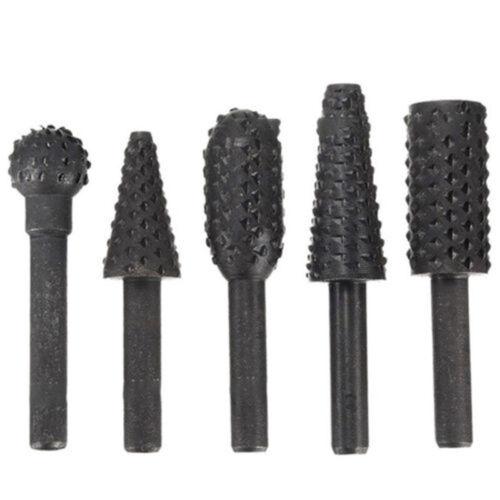 5stk Kohlenstoffstahl Bohrer Werkzeuge Holzbearbeitung 1//4 Schwarz Ersatz