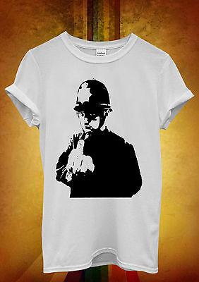 Banksy Policier Cuivre majeur Hommes Femmes Unisexe T shirt débardeur débardeur 678