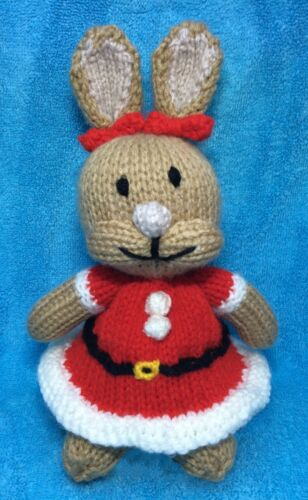 Xmas Cottontail inspired choc orange cover KNITTING PATTERN Peter Rabbit toy
