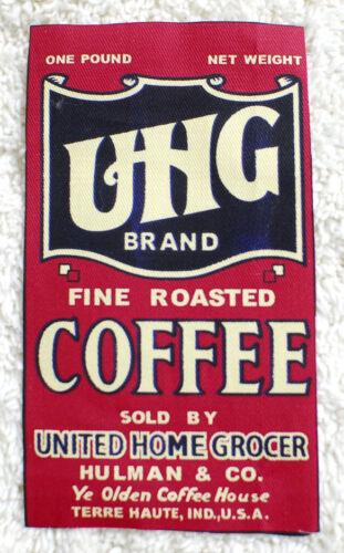 Chic-----Cotton----Raw edge --8 cm x Wide x 15 cm High- Fabric Coffee Labels