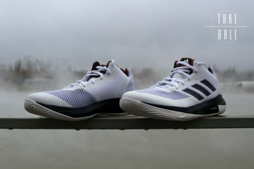adidas D Rose Lethality BB7158 White Black Mentality Pistons Basketball Shoes DS