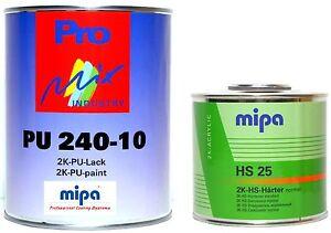 Mipa 2k Lack Ral 7016 Anthrazitgrau Matt 1 5 Liter Set Mp10 Ebay