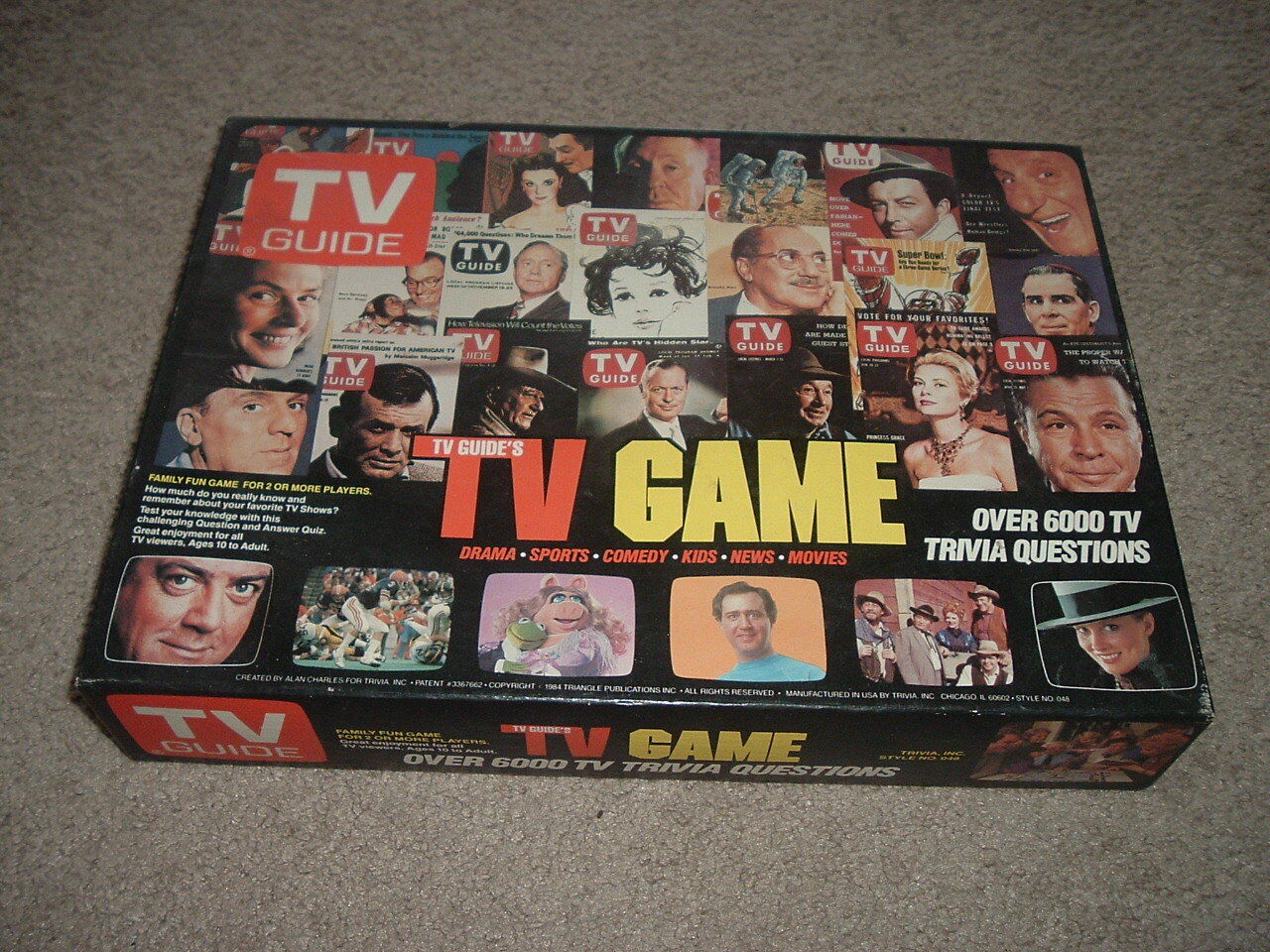 1984 TV TV TV GUIDE Trivia Game 6000 Questions Drama Prince Diana's Wedding Cover 49f2f7