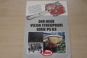 158229) Vicon Litière Professionnel Ps 03 Prospectus 1986-afficher Le Titre D'origine