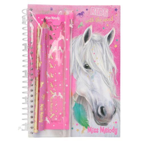 Lineal Depesche 8942 Pferd Stifte Miss Melody Notizbuch mit Schreibset Notes