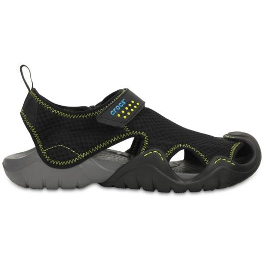 e40e3948c267 Crocs Mens Swiftwater Sandal Black charcoal 11 M US for sale online ...