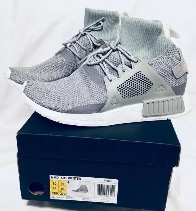 Adidas NMD XR1 Winter Primeknit  Gris  Two Trainers BZ0633 Uk 9.5 Us 10 Eu 44 BNIB