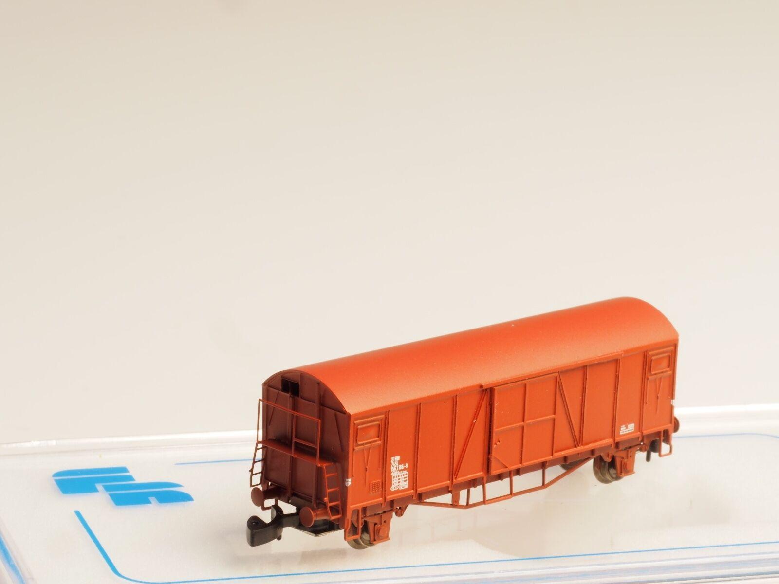 FR 46.815 Z scale SJ litt Gbls  Box car Swedish Railroad made in Metal epoch IV