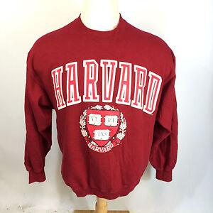 Vtg-Harvard-Flock-Print-University-College-80s-SwEaTsHiRt-School-Ivy-League-L