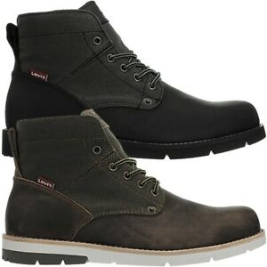 work boots black brown leather canvas