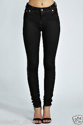 195b30a40c4 New Ladies Womens Fashion Coloured Skinny Jeggings Leggings Jeans Plus size  8-18