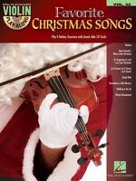 Favorite Christmas Songs Sheet Music Violin Play-along Book And Cd 000102110