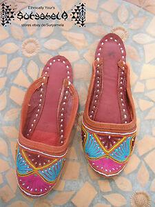 Ethno Goa Nomad Slipper Inside Cuir Hippie 37 Schuhe 36 Tribal Chaussures exodCB