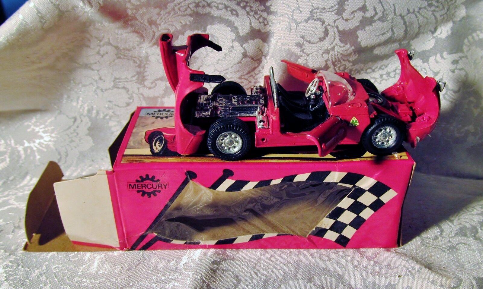 Quecksilber alfa - romeo - kunst.modell   64 - prototyp  33  rennwagen tür hood o   box