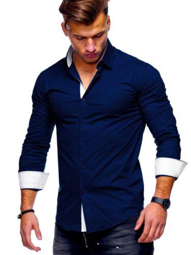 Farben Schwarz//Weiß//Blau//Navy NEU BEHYPE Herren Hemd Polo Slim Fit versch