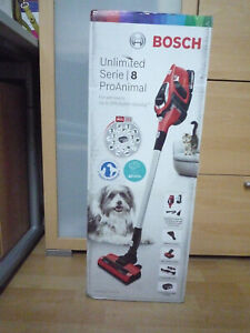 Bosch Akkustaubsauger BBS81PETM Unlimited ProAnimal Rot Serie 8 NEU + OVP