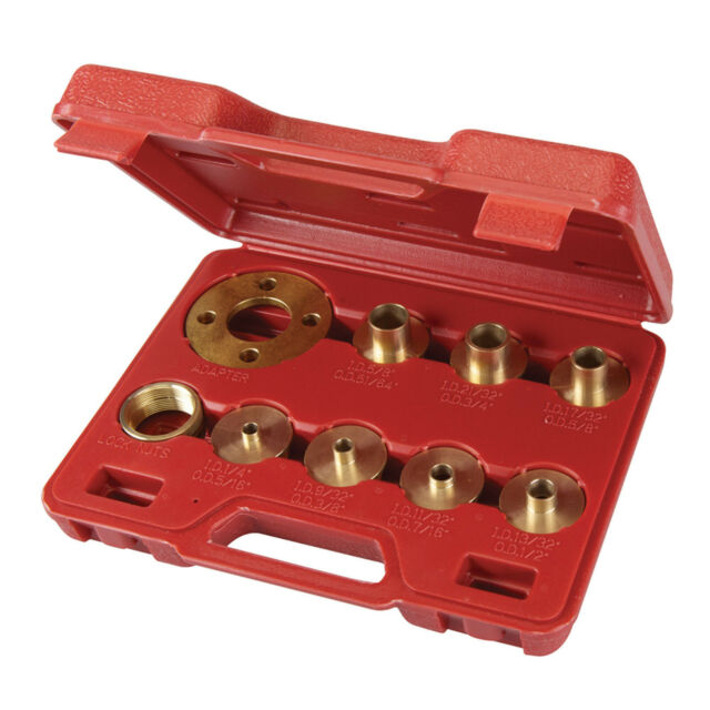 Router Guide Bush Set Adaptor Template Plate Included Kit 10 Piece Brass & Case