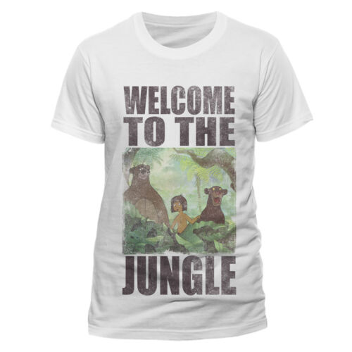 Jungle Book Welcome to the Jungle Official Disney Mowgli White Mens Tshirt