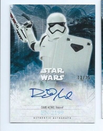 2016 Star Wars Force Awakens 2 autograph card David Acord holofoil 1325
