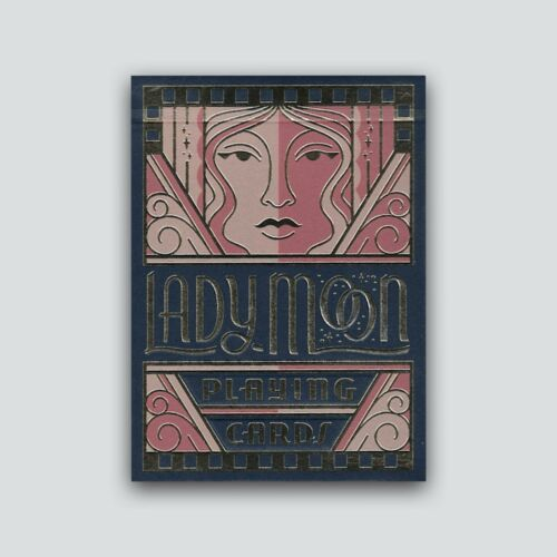 Embossed Lady Moon Playing Cards by Art of Play Fully Custom