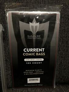 """100 Current Modern Age Comic Book Storage Bags Protective - 6 7/8"""" x 10 1/2"""""""