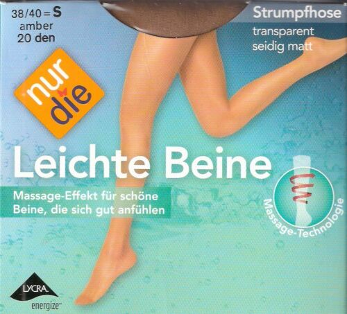 NUR DIE - Leichte Beine - Strumpfhose Gr. S - L schwarz, amber, mandel