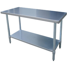Stainless Steel Utility Table Adjustable Shelf Kitchen Prep Furniture Home Use
