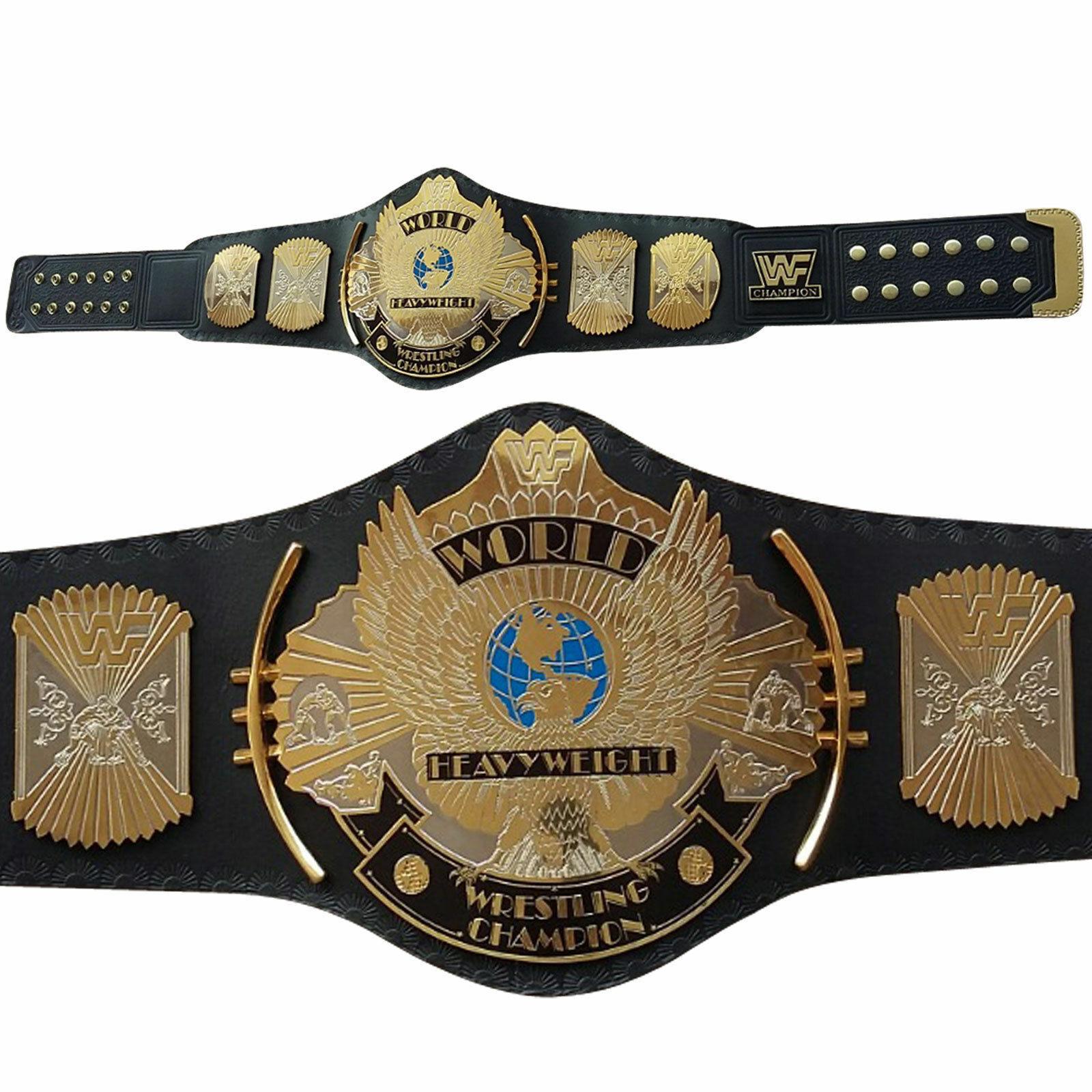 WWE WWF Dual Placcato oro aquila alata Cintura Wrestling campionato in mettuttio per adulti