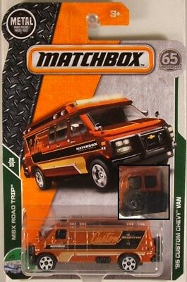 2018 MATCHBOX #102 /'95 CUSTOM CHEVY VAN☆orange;spare tire variation☆Road Trip☆