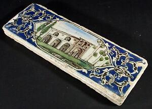 Antik-islamische-Qajar-Keramik-Fliese-Kachel-islamic-Ceramics-Pottery-Tile-No-N