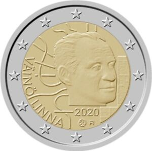 Finland-2020-NEW-2-Euro-BU-cc-coin-100-YEARS-VAINO-LINNA-FROM-ROLL-CAPSULE