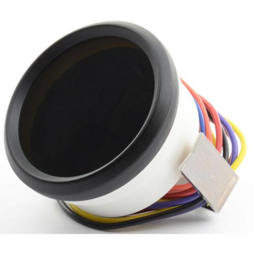 """2 1//16/"""" Universal Digital Fuel Gauge White LEDs Black Bezel Lifetime Warranty"""