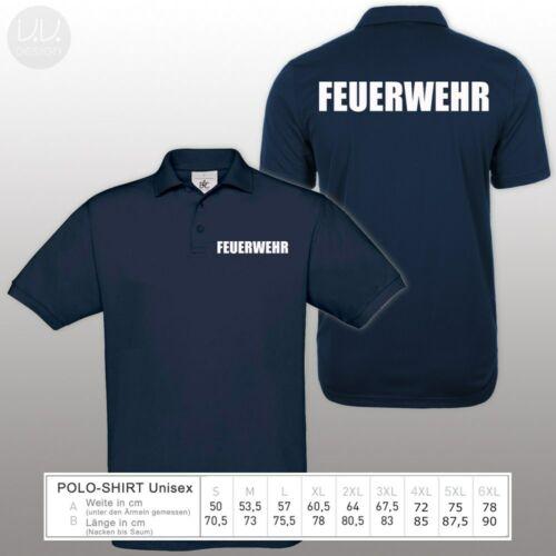 Feuerwehr Polo-Shirt S 3XL 4XL 5XL 6XL Hohe Qualität Dienst Bekleidung Neon