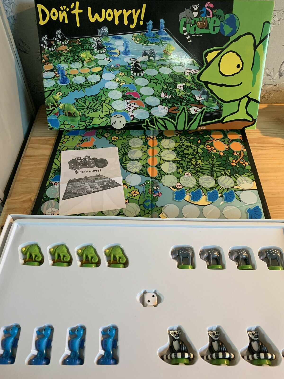 Don't Worry aka Parcheesi OAZE Large Forest Colourful Game very very very rare Mint 4d4223
