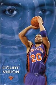 New-Costacos-New-York-Knicks-Allan-Houston-Court-Vision-Poster-22-5-x-35