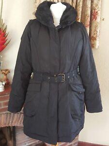 20 successiva lunga da cintura per 18 con soffietto l'inverno Giacca taglia nero per Grande con donna BFnggqAw